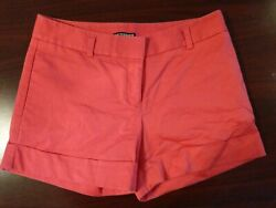 (5D5) Express Coral Pink High Waisted Shorts Women's Size 4