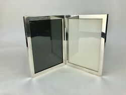 Two-part Sterling Silver Folding Picture Frame 426-2 Morgan Stanley Gift