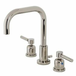 Kingston Brass Fsc8939dl Concord Widespread Bathroom Faucet With Brass Pop-up...