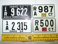 Vintage 1953 1954 Idaho Conneticut Wheaties Cereal Mini Bike State License Plate