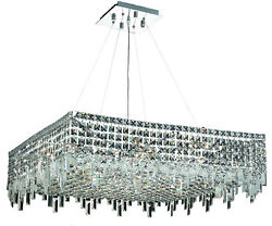 2033 Maxime Collection Hanging Fixture L32in W32in H7.5in Lt12 Chrome Finis...