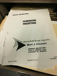 Vintage Bell And Howell Manuals,service Bulletins,brochures Literature Collection