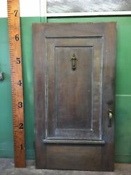 Wood Reclaimed Salvaged Front Door Architectural Vintage 43-3/4x79-1/2 Thick
