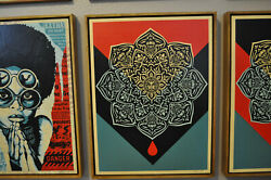 Shepard Fairey - Blood Drop Mandala - Fine Art - Wood Edition - Rare AP