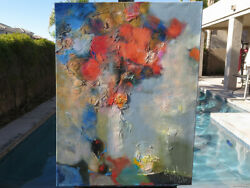 Still Life Impressionism Abstract Oil Canvas Original Painting Art Signed Listed