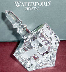 Waterford Crystal Hanukkah Dreidel Etched Accents 141902 New In Box