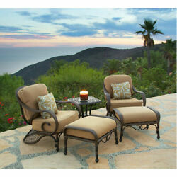 Weave 5pc Club Chair Set Outdoor Patio Seating Patio Rattan Wicker