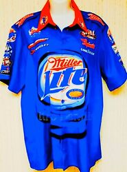 Nhra Dick Lahaie Used Crew Shirt Dragster Don Prudhomme Nitro Snake Larry Dixon