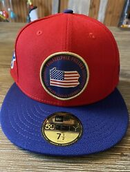 Philadelphia Phillies New Era 59fifty State Mlb Red Fitted Hat Size 7 1/2 2019
