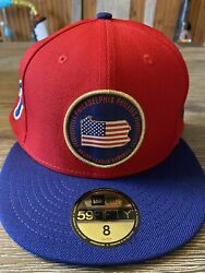 Philadelphia Phillies New Era 59fifty State Mlb Red Fitted Hat Size 8 2019