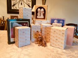 Lot Of 12 Precious Moments Figurines And 1 Precious Moments Candy Dish Very Good