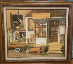 H.hargrove Farm Equipment Signed Serigraph On Canvas Limited Edition 531/750 85