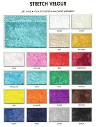 58quot; Stretch Velvet Fabric By The Yard 100% Polyester Machine Washable