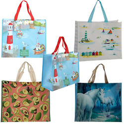 Re-Usable Shopping Grocery Food Storage Tote Bag Large Various Scenes