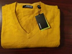 (5D6) Mens Murano Long Sleeved Shirt Size Large Mustard Modern Performance New