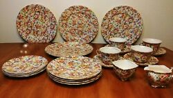 Antique Collectible China Set. James Kent Ltd. Made In England Du Barry
