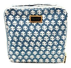 New Estee Lauder Aerin Leaf Canvas Cosmetic Bag Pouch with Handle $7.99