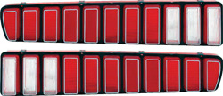 Oer Mb2145 1973-1974 Dodge Charger Tail Lamp Lens Set With Silver Trim