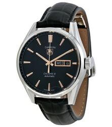Tag Heuer Carrera Calibre 5 Day-date Automatic Black/rose Gold No Tag