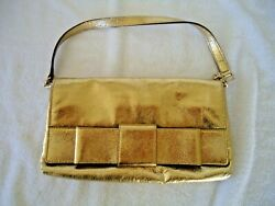 Kate Spade Leather Gold Clutch Purse with Snap Closure $42.70