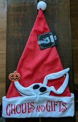 (5D4) DISNEY THE NIGHTMARE BEFORE CHRISTMAS ZERO SANTA HAT NEW! Free shipping