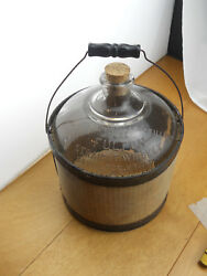 Prepro Myers And Company Pure Fulton Whiskey Glass Gallon Jug W. Bale Carrier