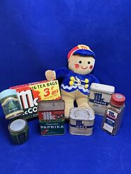 Old Vintage Tin Can Mc Cormick Lot Of 7 Items Advertising E146