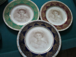 Crown Ducal Queens Elizabeth 1953 Plates Red Blue Green Royalty Pick One