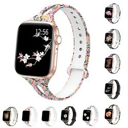 Soft Silicone Multicolor Band Compatible Apple Watch Series 6 5 4 3 2 1 $9.85