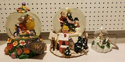 Christopher Radko Christmas And Easter Snow Globes Very Beautiful