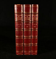 1880-2 3vol The Letters Of Charles Dickens Edited Root And Son Binding First Edi