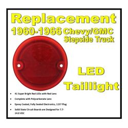 1960-1966 Chevy C10 Gmc Pickup Truck Red Led Stepside Taillight Lens