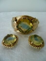 Beautiful Vintage Sarah Coventry Versailles Cabochon Bracelet And Earrings
