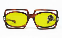 N.o.s. Vintage Sunglasses Entree Bausch Lomb Museum Kalichrome Tortoise