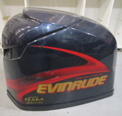 0285467 Engine Cover Motor Cowl Evinrude Outboard Ficht 225 Hp Blue 2001