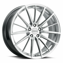 20x8.5 Vision 473 Axis 5x120 Et35 Hyper Silver Machined Face Wheels Set Of 4