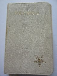 Order Of The Eastern Star 1935 White Oxford Pocket Bible