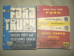 1956 1957 Ford Truck Orig Chassis/body Parts Catalog Set_f-100_250_350_delivery