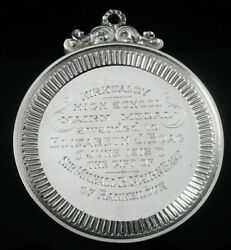 Immaculate Cased Sterling Silver School Medal Kircaldy High School 1912