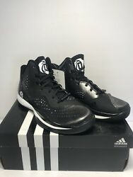 Adidas Mens Size 5 D Rose 773 III Black White Basketball Training Athletic Shoes