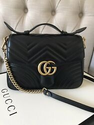 Gg Marmont Small Top Handle Bag - Authentic/ New