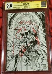 Spawn 300 N Cgc 9.8 Ss Signed By Capullo Scott Snyder J Scott Campbell Opena +1