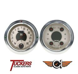1954-55 Chevy Truck All American Nickel Gauges Tach Classic Instruments Ct54an62