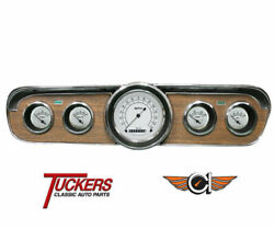 1965-66 Ford Mustang Classic White Gauge Package Classic Instruments Mu65cw00