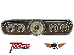 1965-66 Ford Mustang All American Nickel Gauge Set Classic Instruments Mu65an00