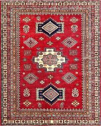 Handmade Oriental Rugs Super Kazak Collection Wool Hand-knotted 6and039-6 X 7and039-10
