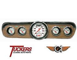 65-66 Ford Mustang Velocity White Ultimate Gauges Classic Instruments Mu65vsw35