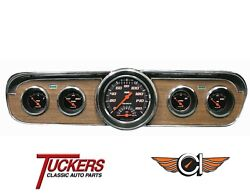 65-66 Ford Mustang Velocity Black Ultimate Gauges Classic Instruments Mu65vsb35
