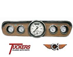 1965-66 Ford Mustang White Hot Ultimate Gauge Pkg Classic Instruments Mu65wh35