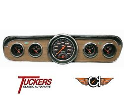 1965-66 Ford Mustang Velocity Blk Ultimate Gauges Classic Instruments Mu65vsb35